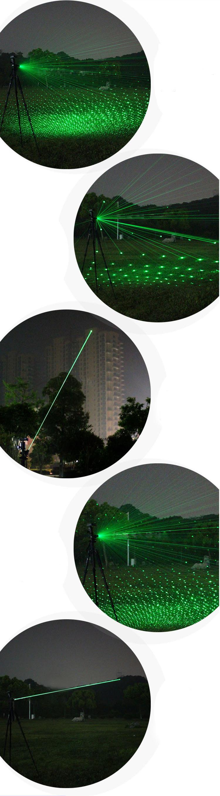 グリーンレーザー 満天の星キャップ付き フォーカス調整可能