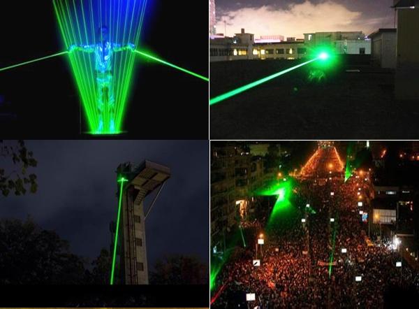 超高出力緑色レーザー懐中電灯 ドット花火