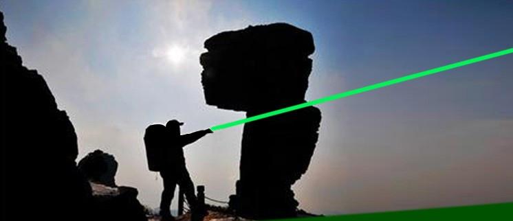 出力レーザーポインターグリー五つ星空キャップ搭載 保護メガネ