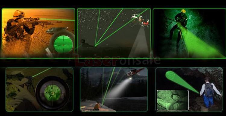 高出力の5000mw緑色レーザーポインター焼跡のマッチ、タバコ