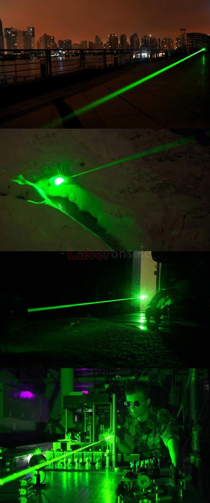 強力レーザー懐中電灯 緑色レーザーポインター200mW