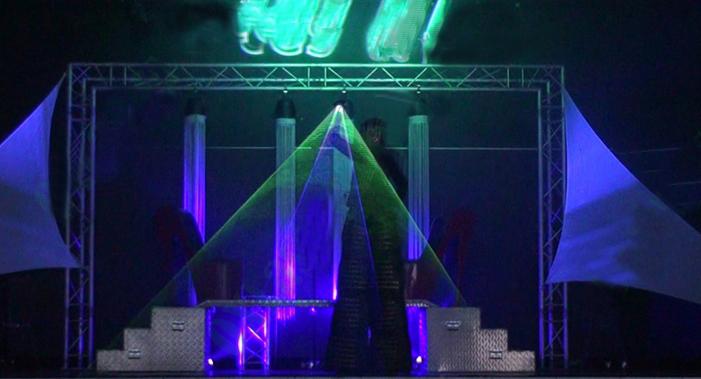 グリーンレーザー用レーザー回転ダンスクラブdjレーザーショーパブパーティレーザー光万里デバイス