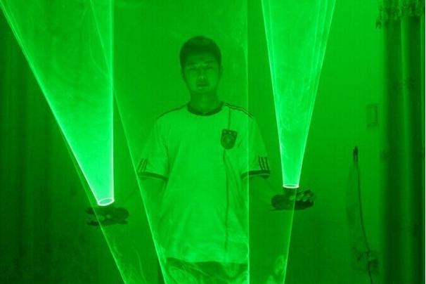jレーザーショーパブパーティレーザー光万里デバイス 緑色レーザーグローブ