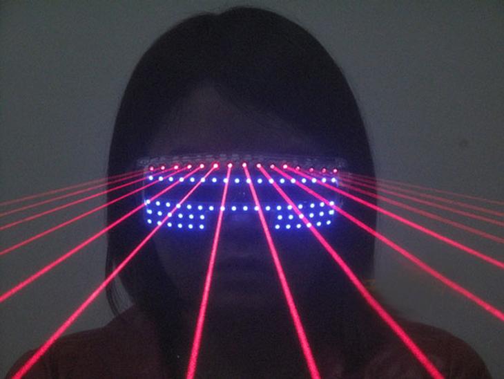LED発光レーザーメガネ