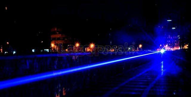 超高出力青色レーザー懐中電灯
