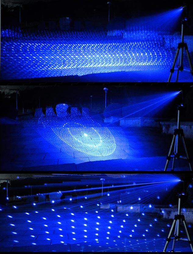 超高出力 5in1 満天星 レーザーポインター 青 強