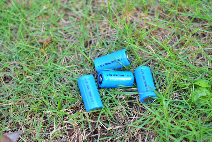 16340充電池/リチウムイオン