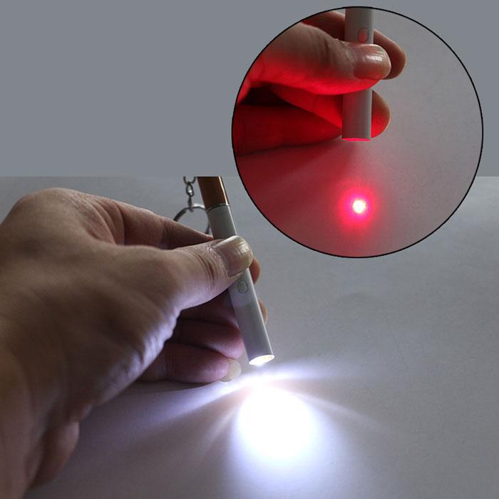赤色レーザーポインターペン懐中電灯3in1