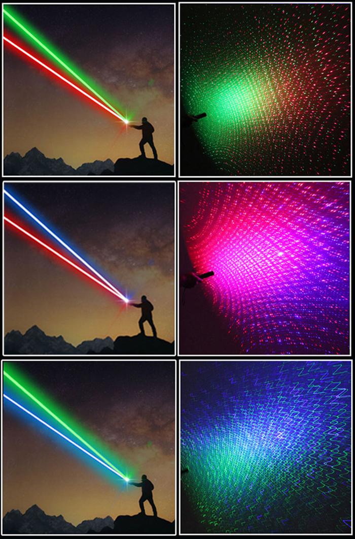 二色レーザーポインター