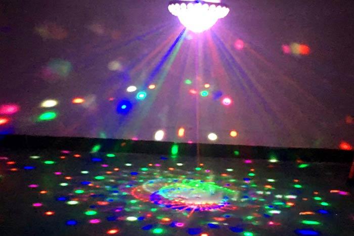 ミニステージライト 舞台照明 360度LED回転ライト