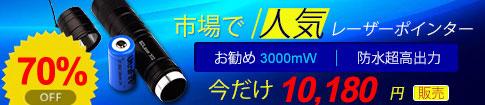 激安3000mW緑レーザーポインター