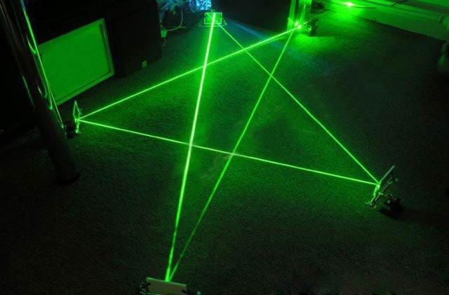天体観測 レーザー 指示