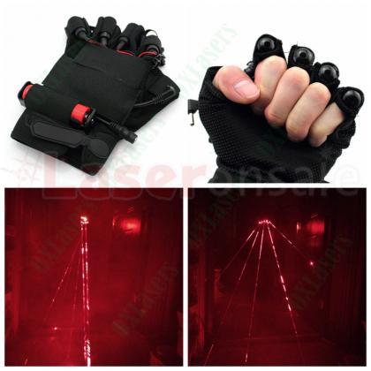 レーザー手袋赤色