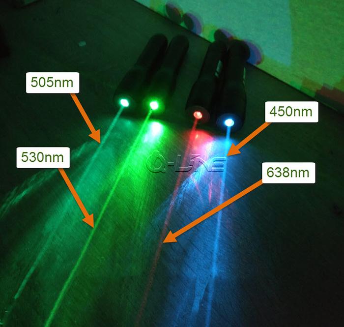 水下用レーザーポインター